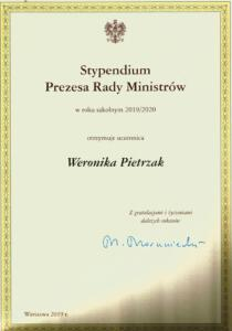 Wronika Pietrzak-stypedium premiera